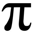 symbol pi icon black color flat style simple image vector image vector image