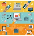 T-commerce banner flat vector image vector image