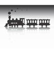 Train silhouette vector image vector image