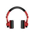 trendy youth wireless red headphones vector image