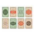 vintage filigree card covers vector image vector image