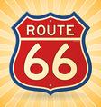Vintage Route 66 Symbol vector image