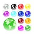 web buttons - global concept vector image