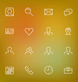 White thin line icons set for web and mobile on vector image vector image