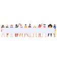 young girls holding banner female group vector image vector image