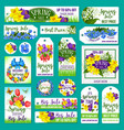 spring sale tags posters banner templates vector image