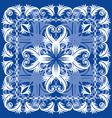 blue vintage otnament vector image
