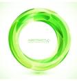 Green crystal ring frame vector image