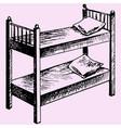 kids bunk bed vector image