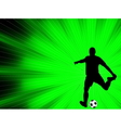soccer player - abstract background vector image