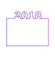 2018 calendar design or an element for website vector image vector image