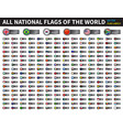 all national flags of the world circle cover vector image vector image