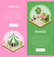 amusement park isometric vertical flyers vector image