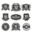 anniversary label 10 years vector image vector image