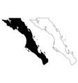 baja california sur map vector image