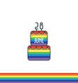 Birthday party icon vector image