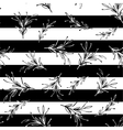 Black and white striped floral minimal simple vector image