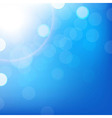 Blue Background With Bokeh vector image vector image