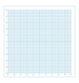 blue metric graph paper with coordinate vector image vector image