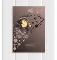 Brochure design business template nature element vector image vector image