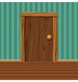 Cartoon Wooden old Door vector image