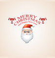 christmas background with santa claus and the vector image vector image