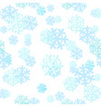christmas seamless pattern with snowflakes can be vector image
