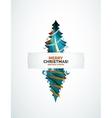 Christmas tree geometric design vector image