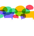 colorful speech bubbles in different colors vector image vector image