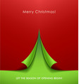 creative christmas tree vector image vector image