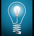 Creative light bulb abstract infographic vector image vector image