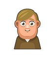 cute overweight boy avatar character young man vector image