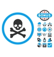 Death Flat Icon with Bonus vector image vector image