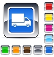 delivery square button vector image vector image
