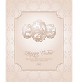 Easter vintage card vector image vector image