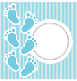 Frame with baby steps vector image vector image