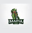gangster mascot logo vector image
