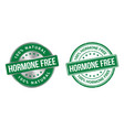 grunge stamp and silver label hormones free vector image vector image
