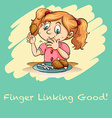 Idiom finger linking good vector image vector image