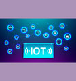 iot internet thing future technology vector image vector image