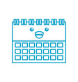kawaii calendar business date appointment cartoon vector image