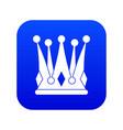kingly crown icon digital blue vector image vector image
