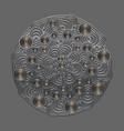metal circular pattern mandala vector image vector image