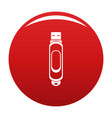 mini usb icon red vector image vector image