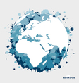 Modern blue globe vector image vector image