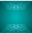 Modern cyan colored background vector image vector image