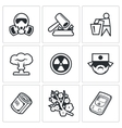 Nuclear Power in Japan icons vector image vector image