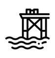 oil sea platform icon outline vector image vector image