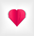 paper heart paper pages in the form of pink vector image vector image