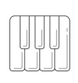 piano keys line icon vector image